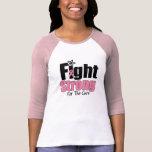 Lucha fuerte para la camisa del cáncer de pecho de
