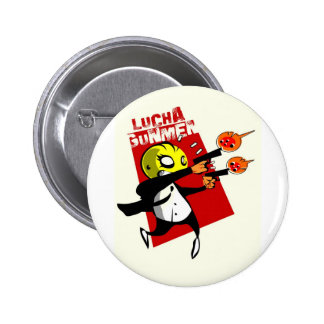 Lucha Gunmen Pinback Button