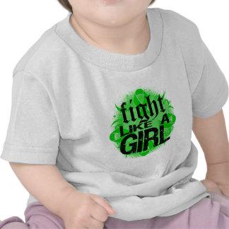 Lucha hepática del cáncer como una roca Ed. del Camisetas