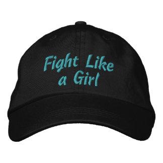 Lucha intersticial de la cistitis como un chica gorras bordadas
