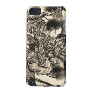 Lucha japonesa del demonio del samura del vintage  funda para iPod touch 5G