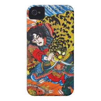 Lucha legendaria japonesa fresca del tigre del carcasa para iPhone 4 de Case-Mate