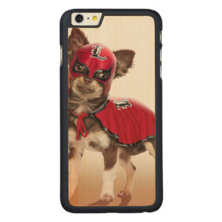 Lucha libre dog ,funny chihuahua,chihuahua carved maple iPhone 6 plus case