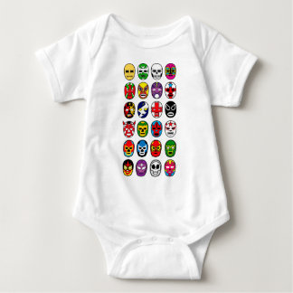 Lucha Libre Luchador Mexican Wrestling Masks Baby Bodysuit