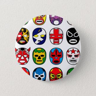 Lucha Libre Luchador Mexican Wrestling Masks Button