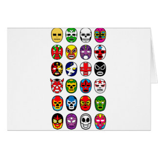 Lucha Libre Luchador Mexican Wrestling Masks Greeting Cards