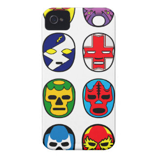 Lucha Libre Luchador Mexican Wrestling Masks Case-Mate iPhone 4 Case