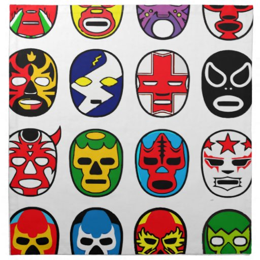 Lucha libre luchador mexican wrestling masks napkins zazzle