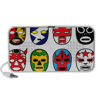 Lucha Libre Luchador Mexican Wrestling Masks iPhone Speakers