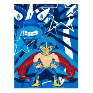 Lucha Libre Luchador Wrestler Postcard