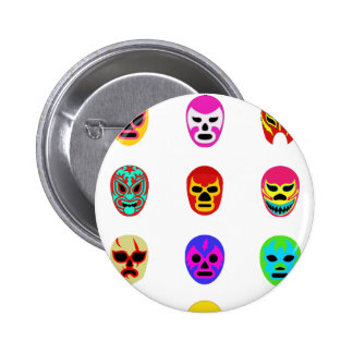 Lucha Libre Mask Mexican Wrestling Button