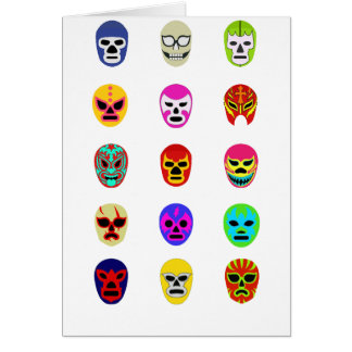 Lucha Libre Mask Mexican Wrestling Greeting Cards
