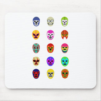 Lucha Libre Mask Mexican Wrestling Mouse Pad