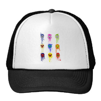 Lucha Libre Mask Mexican Wrestling Paint Drip Hats