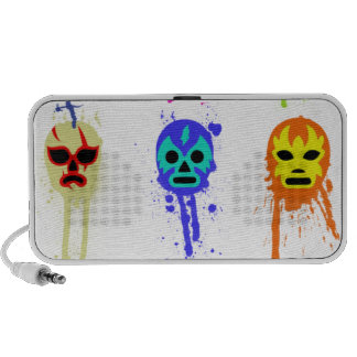 Lucha Libre Mask Mexican Wrestling Paint Drip PC Speakers
