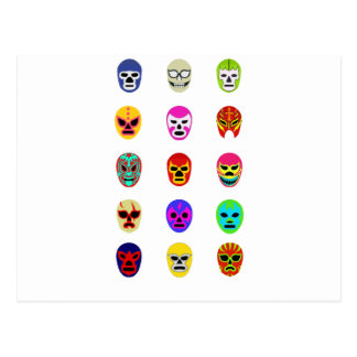Lucha Libre Mask Mexican Wrestling Postcard