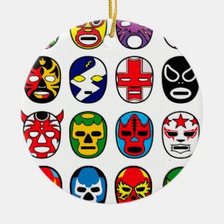 Lucha Libre Mask wrestler Mexican Wrestling Ceramic Ornament