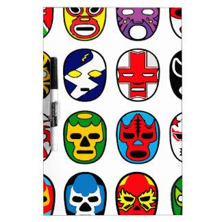 Lucha Libre Mask wrestler Mexican Wrestling Dry Erase Board