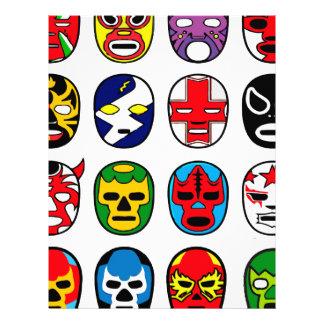Lucha Libre Mask wrestler Mexican Wrestling Letterhead