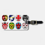 Lucha Libre Mask wrestler Mexican Wrestling Luggage Tags
