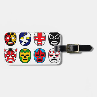 Lucha Libre Mask wrestler Mexican Wrestling Luggage Tag