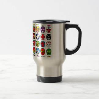 Lucha Libre Mask wrestler Mexican Wrestling Coffee Mugs