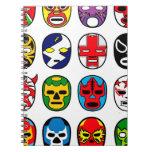 Lucha Libre Mask wrestler Mexican Wrestling Spiral Notebook