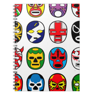 Lucha Libre Mask wrestler Mexican Wrestling Notebook