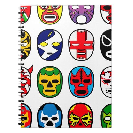 Lucha Libre Mask wrestler Mexican Wrestling Notebook