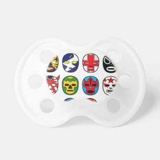 Lucha Libre Mask wrestler Mexican Wrestling Baby Pacifier