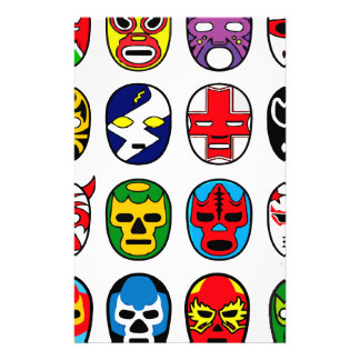 Lucha Libre Mask wrestler Mexican Wrestling Stationery