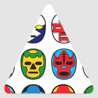 Lucha Libre Mask wrestler Mexican Wrestling Triangle Sticker