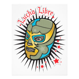 "Lucha Libre Mexican Wrestling Mask 8.5"" X 11"" Flyer"