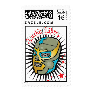 Lucha Libre Mexican Wrestling Mask Stamp