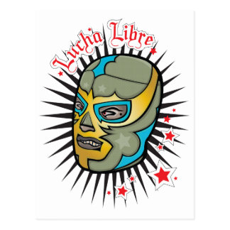 Lucha Libre Mexican Wrestling Mask Postcard