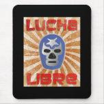 Lucha Libre Mexican Wrestling Mouse Pad