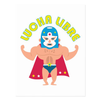 Lucha Libre Postcard
