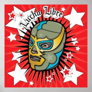 Lucha Libre Wrestler Colassal Poster!