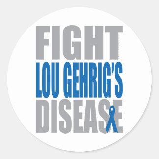 Lucha Lou Gehrig's Disease Pegatina Redonda