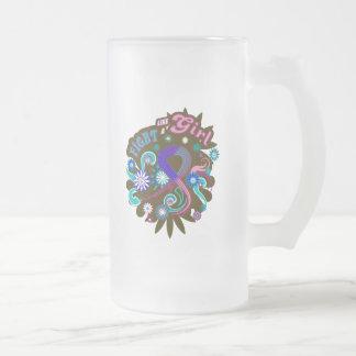 Lucha maravillosa del cáncer de tiroides como un taza de cristal