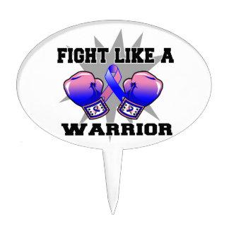 Lucha masculina del cáncer de pecho como un guerre decoración para tarta