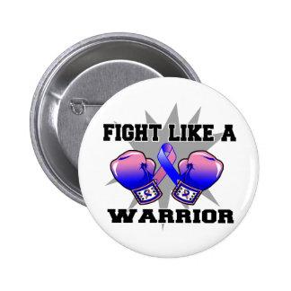 Lucha masculina del cáncer de pecho como un guerre pin