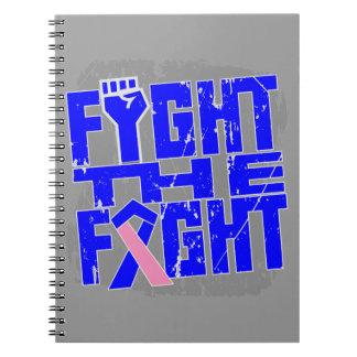 Lucha masculina del cáncer de pecho la lucha libro de apuntes