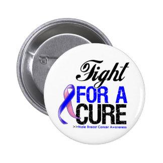 Lucha masculina del cáncer de pecho para una