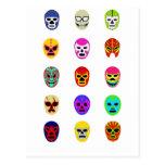 Lucha mexicana de la máscara de Lucha Libre Postales