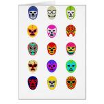 Lucha mexicana de la máscara de Lucha Libre Tarjeta De Felicitación