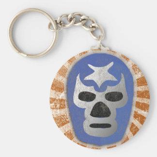 Lucha mexicana de Lucha Libre Llavero Redondo Tipo Pin