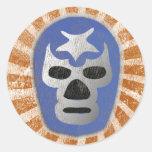 Lucha mexicana de Lucha Libre Pegatina Redonda