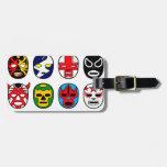 Lucha mexicana del luchador de la máscara de Lucha Etiqueta Para Equipaje