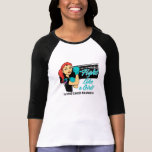 Lucha moderna como un chica - cáncer de Rosie de t Camiseta
